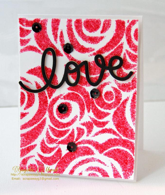 Love glitter card