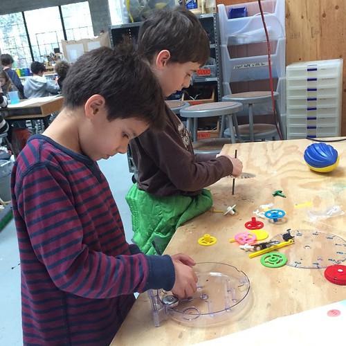 assembling clock parts
