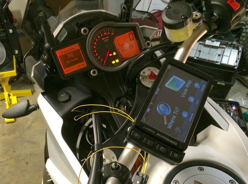 installing bmw navigator v gps on ktm 1190 adventure rider. Black Bedroom Furniture Sets. Home Design Ideas