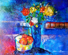 Tangerines and a Vase