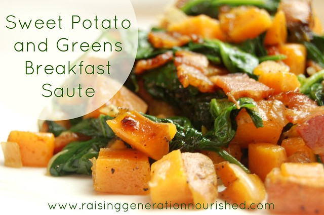 Sweet Potato and Greens Breakfast Saute