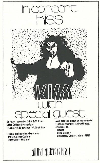 11/10/74 Kiss/ Skyhook @ University City, MI (Ad 2)