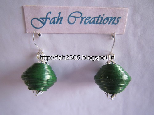Handmade Jewelry - Paper Bead Earrings (1) by fah2305