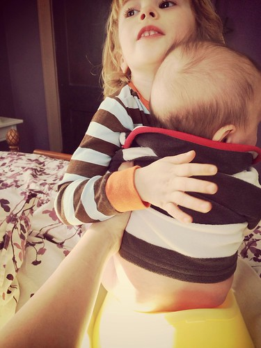 An important step in going potty.. Hugging.