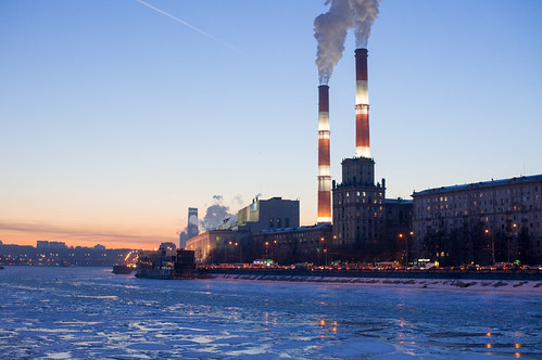 Power plant №12 in winter