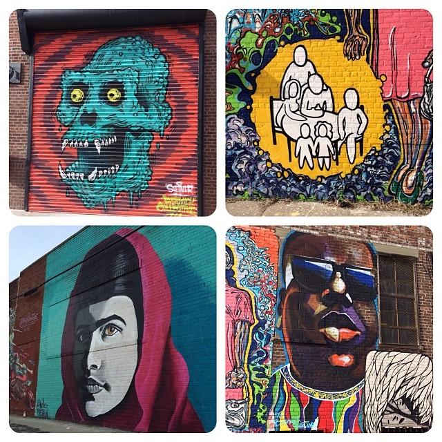 Street art portraits on Troutman Street #Bushwick