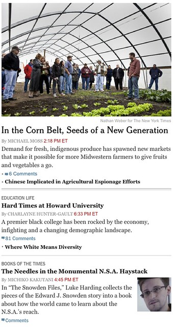 New York Times feature article bylines