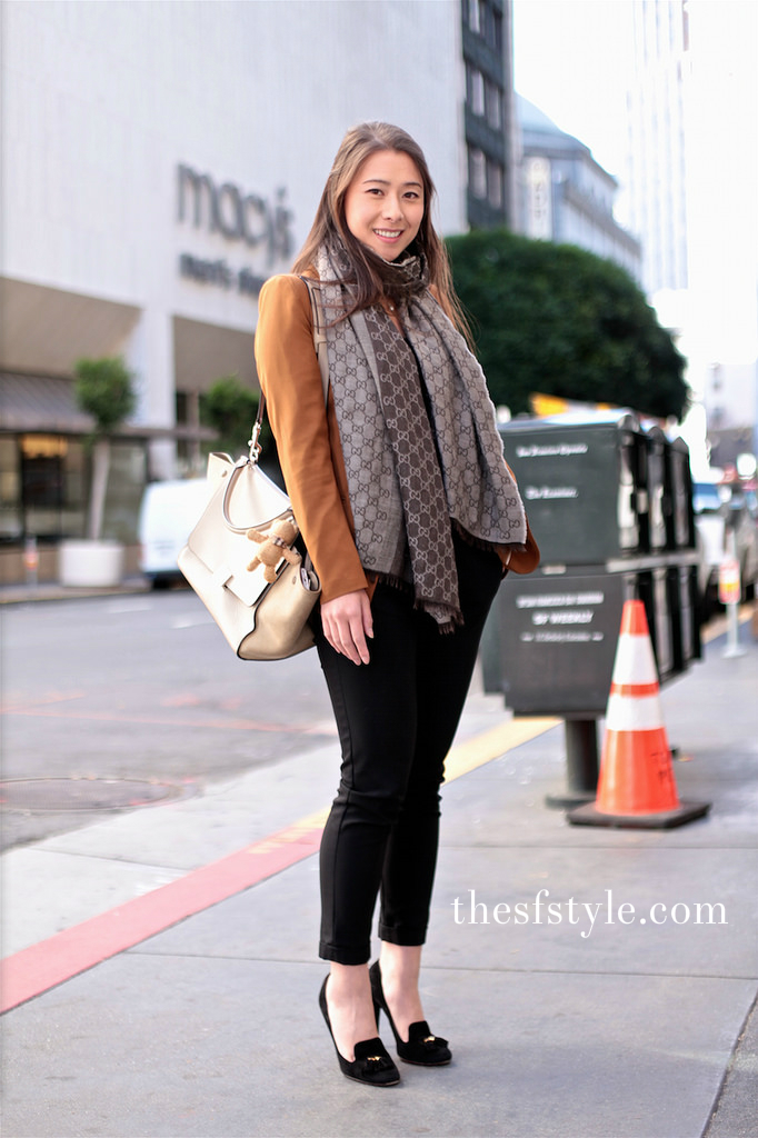 muted palette, GUCCI suede tassled heels, suede tassled pumps, san francisco streetstyle fashion blog,