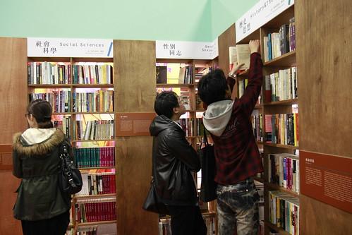 「書展中最像書店的地方」,獨立書店各自推出選書。攝影:江映青。