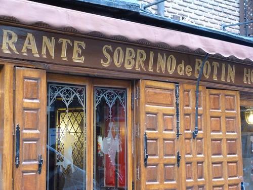 Fachada del restaurante Sobrino de Botín, más conocido como Casa Botín