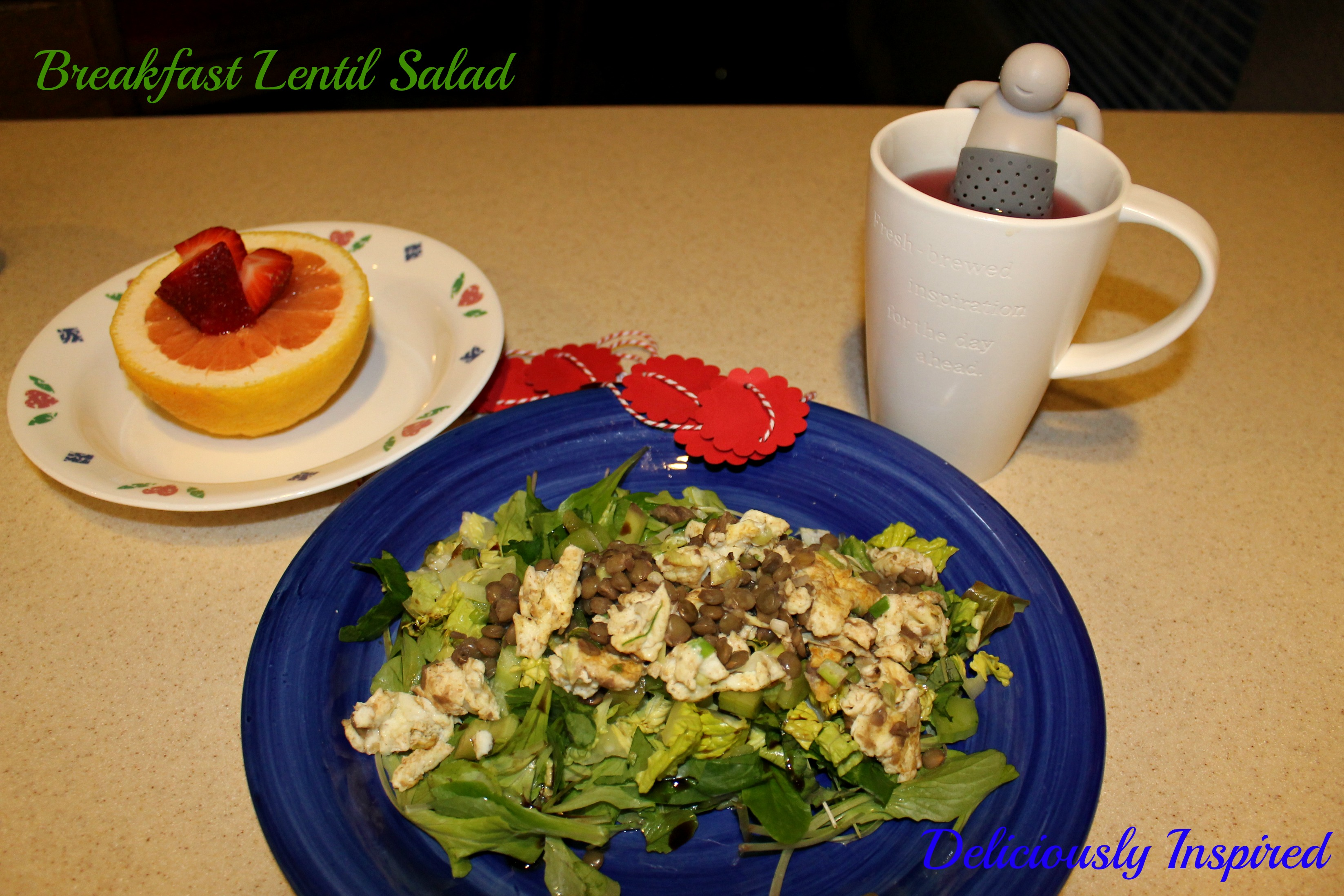 Breakfast Lentil Salad