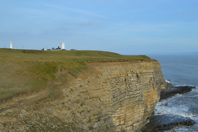A picture of Nash Point lighthouse in Wales