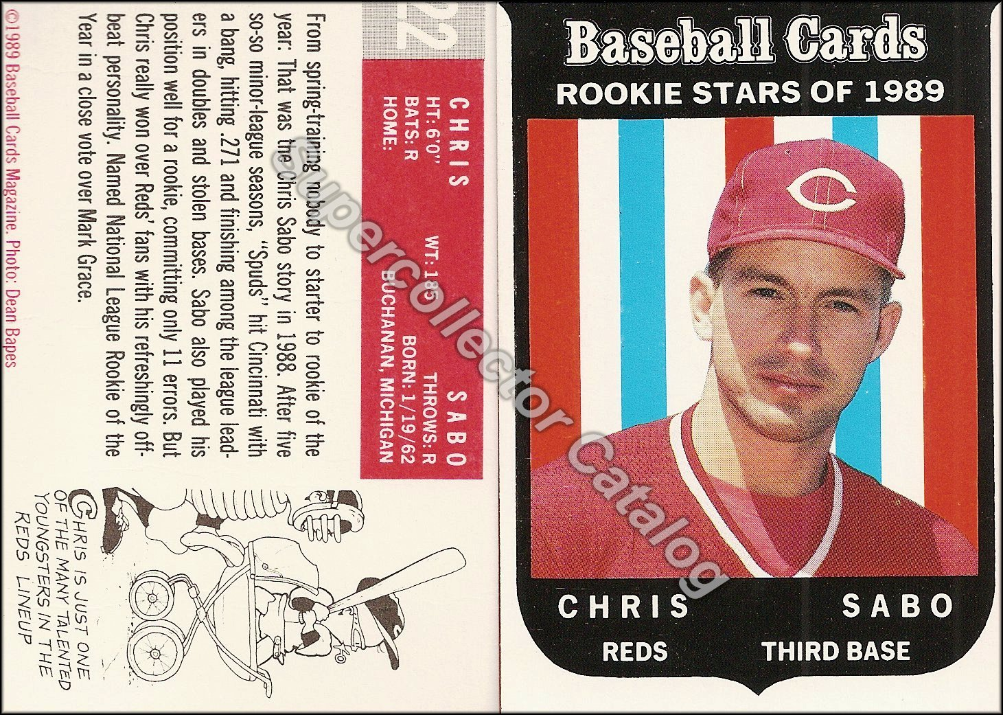 1989 Baseball Card Magazine Insert ('59 Topps - Rookie)