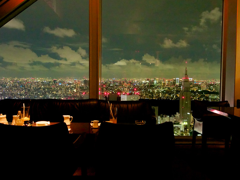 View from the Park Hyatt Hotel bar in Tokyo