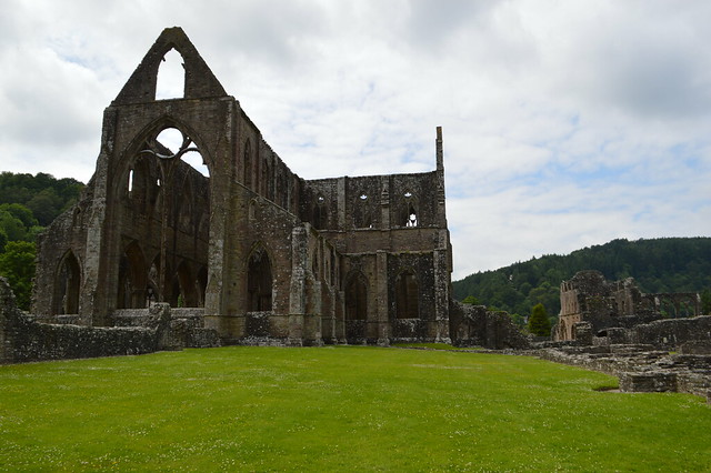 photo of Tintern Abbey in Wales.