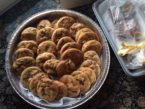 Strawberry chocolate cookies