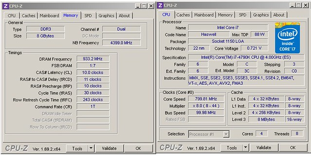 Intel i7-4790K preview Flanker at M7H, aircooled