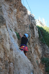 free solo climbing(0.0), ridge(0.0), adventure(1.0), individual sports(1.0), sports(1.0), recreation(1.0), outdoor recreation(1.0), mountaineering(1.0), rock climbing(1.0), sport climbing(1.0), extreme sport(1.0), terrain(1.0), abseiling(1.0), climbing(1.0), rock(1.0), cliff(1.0),