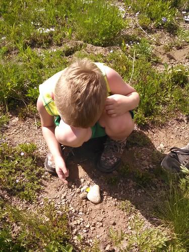 Burying his Mama's ashes