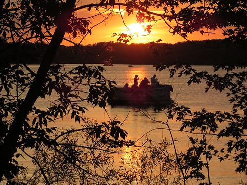 sunset lake minnesota landscape fishing profile pinecity pokegema pinecounty
