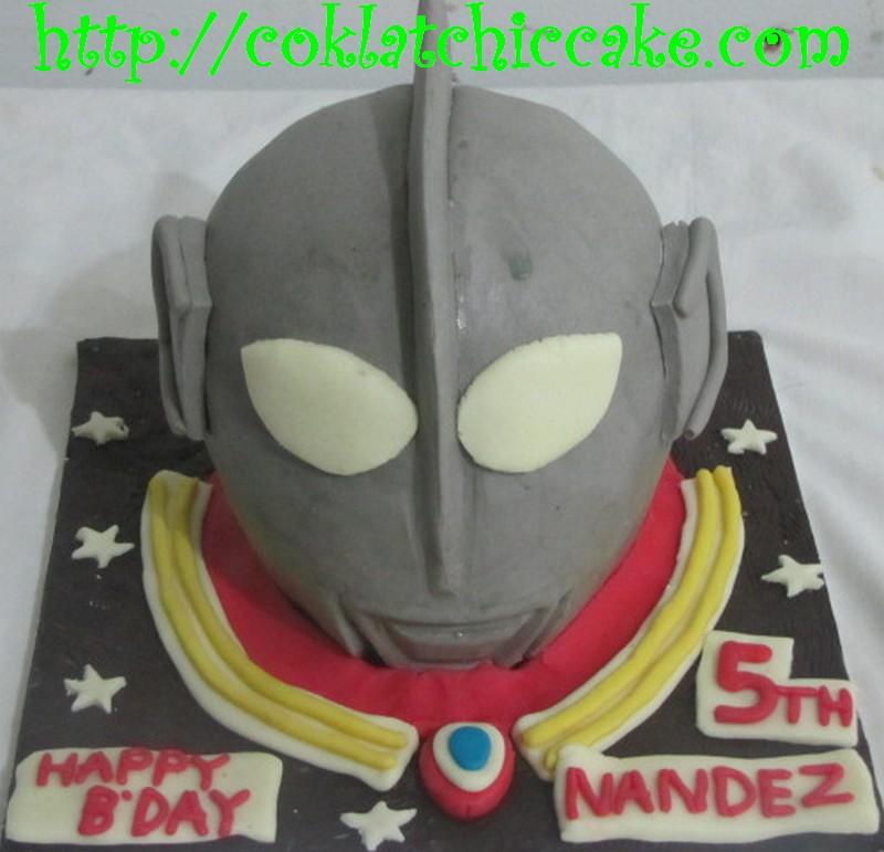 Kue Ulang Tahun Ultraman Nandez Coklatchic Cake