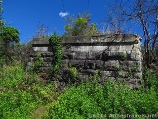 Old railroad abutment along the Genesee Valley Greenway, south of Rochester, New York