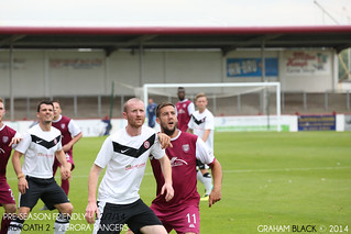 Arbroath 2 - 2 Brora Rangers - Scott McBride waits for the throw in