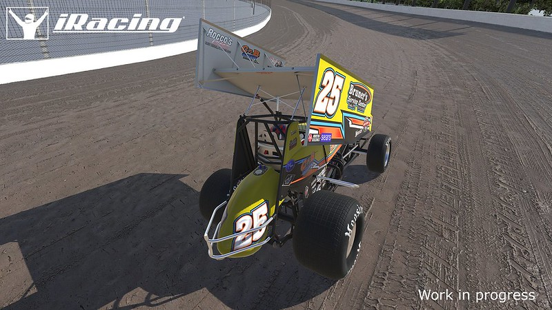 iRacing DIRT Winged Sprint car