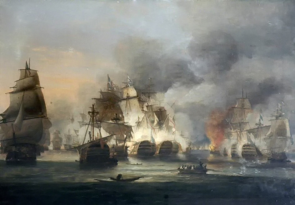 The Battle of Trafalgar, 21 October 1805 by Thomas Luny