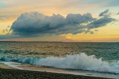 1611 Sunset from South Beach on San Juan Island