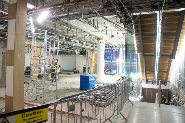 Construction works in the Main Foyer, 2016. Image by Geoff Crawford.