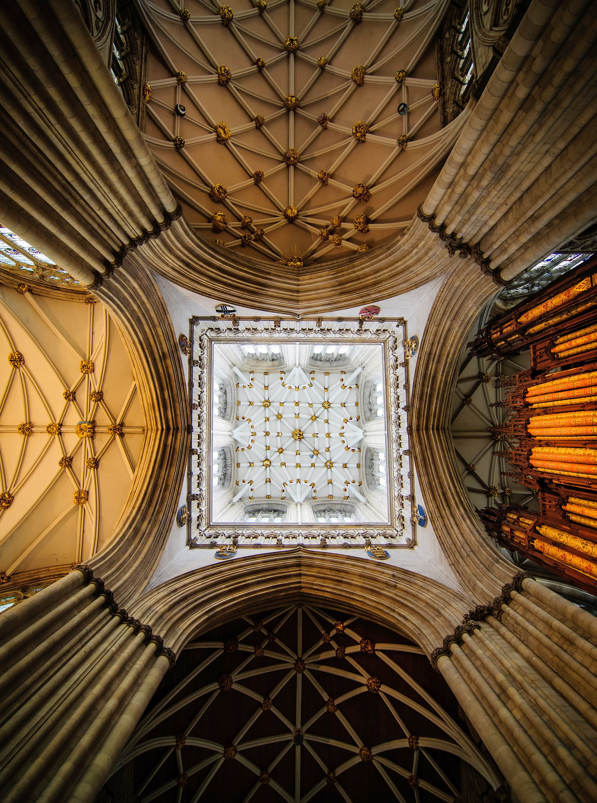 Vault of the central tower of York Minster. Credit Archangel12