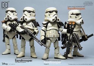 HEROCROSS【星際大戰:帝國沙漠兵】Sand trooper HMF#019C & HMF#019S