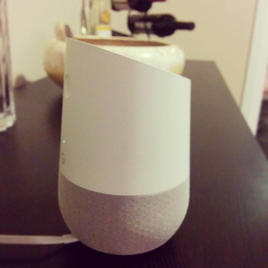 Home is where your intelligent personal assistant is. Welcome home, #googlehome. #HeyGoogle