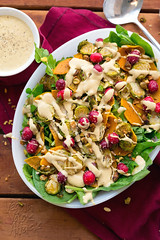 Brussels Sprout Butternut Squash Salad with Creamy…