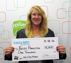Betty Hamilton - $1,000 100 X the Money