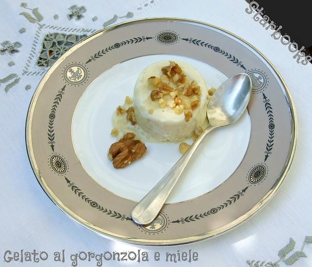 gelato al gorgonzola e miele