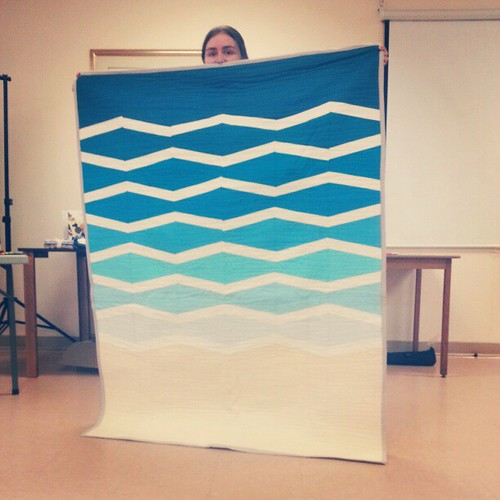 Loved Kelly's use of colour in this evocative New Wave quilt destined for a beach house in Australia