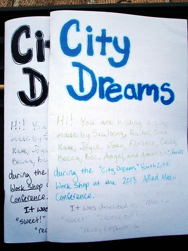 City Dreams zine made at AMC2013
