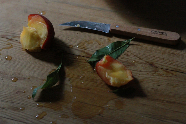 peach cut open