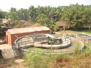 The sewage treatment plant in the college campus