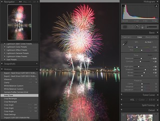 Docklands Fireworks - Lightroom - Stage 2