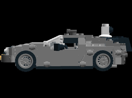 Minifig scale BTTF Delorean DMC12 time machine