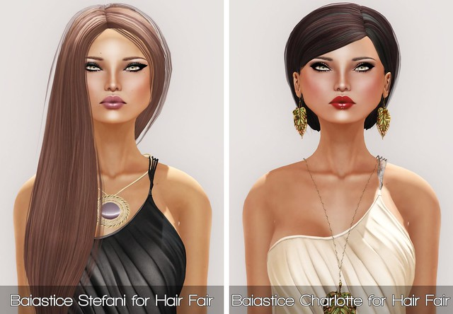 Baiastice Stefani & Charlotte for Hair Fair 2013 and PXL JADE in OLIVE and TAN