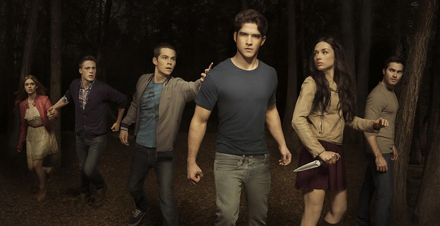 (Some of) the cast of Teen Wolf.