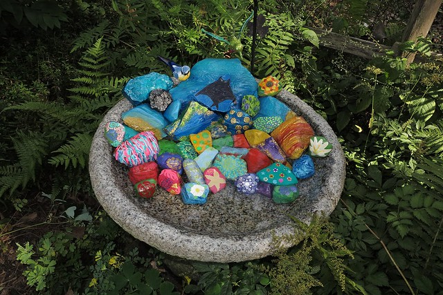 Painted rock garden flickr photo sharing - Painting rocks for garden ...