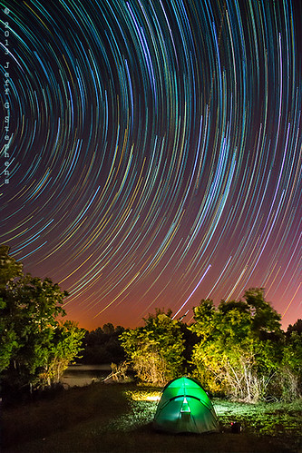 Red River Camping Spot Star Trails by Jeff Stephens