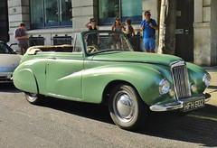 Sunbeam Talbot 90 Convertible Gleaming in the Sunshine - Side - Westminster - July 2013