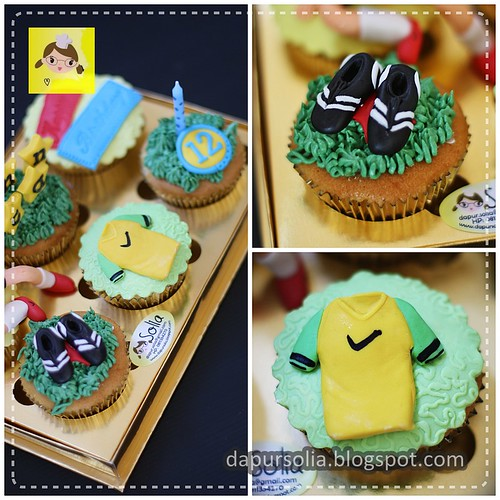 Soccer Cupcake for Ichan