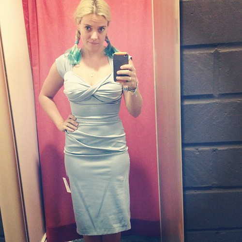 Bridesmaid dress scouting at Unique Vintage. #StopStaring <-- that's the brand. You can stare of you want
